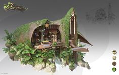 Artwork of anything you might call home. Home sweet home! Environment Concept Art, Environment Design, Fantasy World, Fantasy Art, Medieval, Building Concept, Building Design, Image Painting, Fantasy Illustration