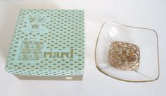 Vintage Georges Briard Gold-Plated Bowl With Original Box Mid-Century Modern