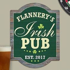 Everyone has that one special friend whose home is the spot where everyone likes to gather. If it's because of their epic hospitality and love of the brew then this sign is a fun way to honor thei . Wall Signs, Irish, Gifts, Wall Plaques, Presents, Irish Language, Favors, Ireland, Gift