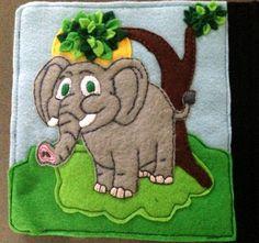 Tiffany's Animal Quiet Book- Elephant page