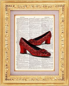 BOGO  Ruby Red Slippers Vintage Dictionary by TheRekindledPage, $8.98