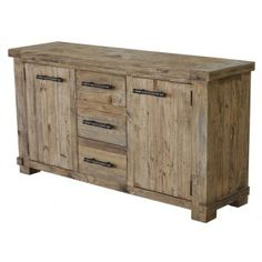 Country Reclaimed Solid Wood Farmhouse Buffet Server at GoWFB.ca | CDI Furniture - Country Reclaimed Solid Wood Farmhouse Buffet Server by C...