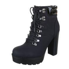 Fekete platform bokacsizma - Női ruha webáruház, női ruhák online - HG Fashion