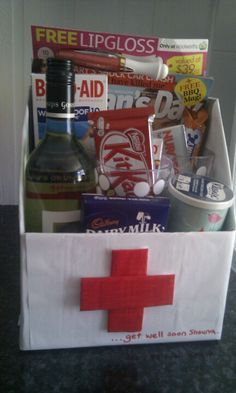 """Get well soon"" box kit."