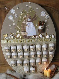 advent calendar ~ so cute - Wikide Christmas Countdown, Christmas Calendar, Noel Christmas, All Things Christmas, White Christmas, Christmas Projects, Christmas Crafts, Christmas Decorations, Christmas Ornaments