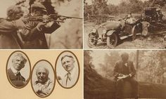 These are the incredible photographs compiled by nature writer John Burroughs as he 'car-camped' through Pennsylvania, West Virginia, Tennessee and Virginia with Thomas Edison, Henry Ford and Harvey Firestone in 1918. The self-described 'four vagabonds' headed a convoy of eight vehicles who went shooting and played games together across the U.S.