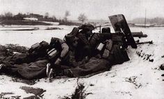 Romanian red hussars on the firing line