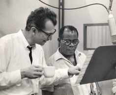 Dave Brubeck and Louis Armstrong