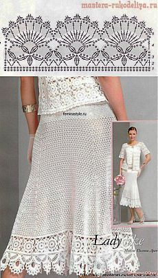Crochet skirt PATTERN (sizes crochet TUTORIAL in English (written + charted) modern crochet See other ideas and pictures from the category menu…. Crochet Border Patterns, Crochet Skirt Pattern, Crochet Lace Edging, Crochet Skirts, Crochet Diagram, Thread Crochet, Crochet Clothes, Crochet Stitches, Skirt Patterns