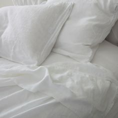 Rachel Ashwell Shabby Chic Couture White Whisper Linen Sheets