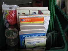 A Nature Box for the Car full of identification guides, pond dipping nets, bug boxes, sketch pads etc