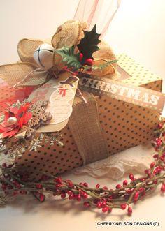 handmade christmas box-BOX for COOKIES by cherrysjubileecards