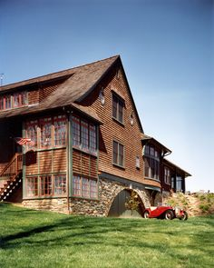 Adirondack-inspired residence, PA. Archer & Buchanan Architecture.