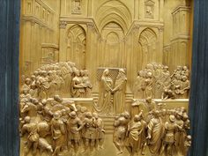 Lorenzo Ghiberti (1378-1455), Gates of Paradise [East doors, Florence Baptistery]. Solomon and the Queen of Sheba.