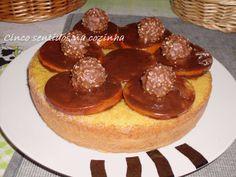 Cinco sentidos na cozinha: Bolo de laranja e baunilha com laranjas em chocola...