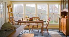 A truly beautiful Vermont scene, featuring handcrafted wood furniture made in Vermont.