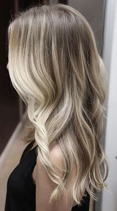 Balayage blonde hair - balayage like this breaks up harsh regrowth to reduce its appearance and create a low-maintenance hair colour...