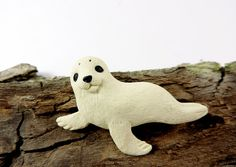 Little baby seal brooch polymer clay jewelry  seal by sofoxyclay