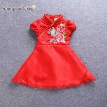 Kids dress for Girls summer Short sleeve cute toddler girl clothes Christmas costumes for girls princess costume baby clothing(China (Mainland))