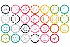 free alphabet printables – letters, monograms, initials – ausdruckbare Alphabete | MeinLilaPark