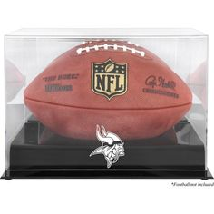 Minnesota Vikings Fanatics Authentic (2013-Present) Black Base Football Display Case with Mirror Back - $59.99