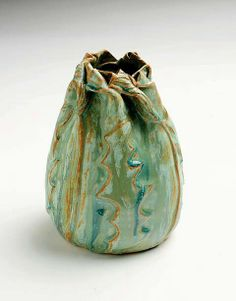 Clark House Pottery - Bill & Pam Clark - Daffodil Vase - Florentine glaze