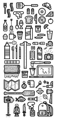 Icons (Everday Things) by Kevin Moran, via Behance:
