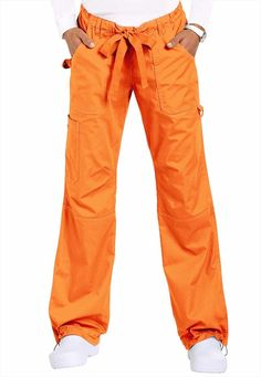 Koi Lindsey Cargo scrub pants in Persimmon color.  So functional, comfortable, durable & cute!! #ScrubsAndBeyondSummer