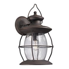 elk village lantern weather charcoal 1light 18inch outdoor sconce weathered charcoal