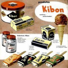 Catálogo de produtos Kibon nos anos 50.