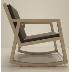 Кресло качалка No1 Береза, Черный
