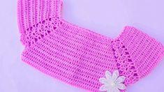 Crochet Lovely Top For Baby - Crochet Ideas Crochet Baby Dress Free Pattern, Crochet Yoke, Baby Dress Patterns, Crochet Baby Clothes, Crochet Blouse, Easy Crochet Patterns, Crochet Stitches, Crochet Toddler, Crochet Woman