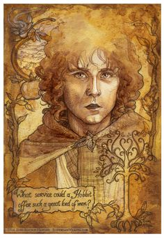 "pippen hobbit art | Chances of turning back "" Sam """". Made for the 2014 Calgary Expo ..."