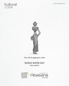 They still strugglling for water Ads Creative, Creative Posters, Creative Advertising, Creative Design, Social Media Banner, Social Media Design, Web Design Agency, Ad Design, Gandhi Jayanti Wishes