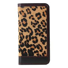 Genuine Leather With Leopard Print Design For iPhone 6 Plus Case