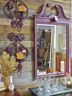 Rust & Feathers is delighted to be featured in Northern Virginia magazine! The December issue is on newsstands now, so we hope you. Painted Mirrors, Mirror Painting, Northern Virginia, Fixer Upper, Candle Sconces, Painted Furniture, Feathers, Rust, Wall Lights