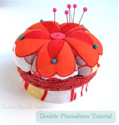 Decora Recicla Imagina …: Tutorial: Alfiletero doble - Double Pincushion Tutorial