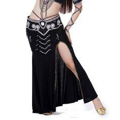 Brightup Femmes Taille Haute fentes longues Maxi Jupe Foulard de Hanche Costume de Danse du Ventre: Amazon.fr: Vêtements et accessoires