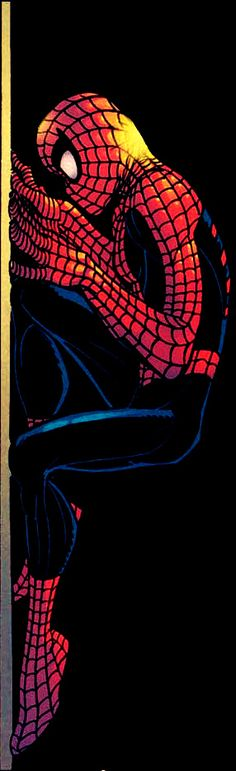 Spider-Man by John Romita Jr--he looks insecure-misunderstood