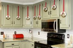 34 Best Ribbon On Kitchen Cabinets Images In 2018 Christmas Bows