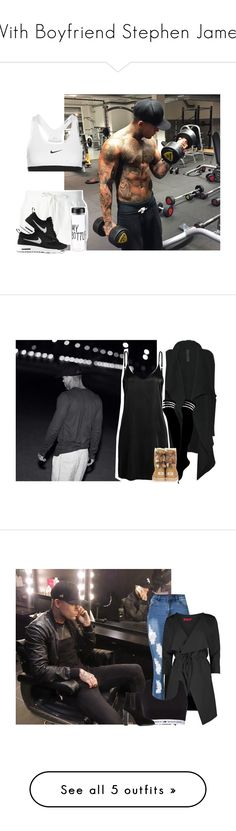 """""""With Boyfriend Stephen James"""" by princesss1994 ❤ liked on Polyvore featuring Moncler, NIKE, Rick Owens, WithChic, UGG Australia, Boohoo, Tommy Hilfiger, Yves Saint Laurent, AQ/AQ and Posh Girl"""