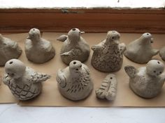 Time for Art!: CLAY BIRD BELLS. The cute little legs sway back and forth and ring the bell.