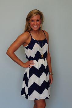Love everything about sundresses..and chevron...