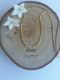 AUNT Morse Code Necklace Secret Message Dainty by KukanaJewelry