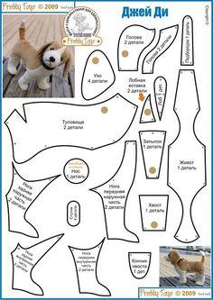 DIY Beagle Plushie - FREE Sewing Pattern / Template:
