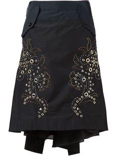 Sacai embellished skirt