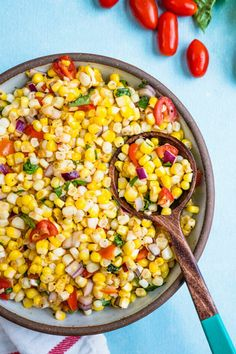 The summer corn salad is very easy to make. All you need is some corn, dressing and some veggies, and salt and pepper to taste.  #salad #salads #saladrecipe #saladbowl #saladideas #saladdressing  #corn Amish Recipes, Greek Recipes, Healthy Cooking, Cooking Recipes, Cooking Ideas, Healthy Food, Side Dish Recipes, Dinner Recipes, Dinner Ideas