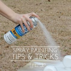 My Best Spray Painting Tips & Tricks by The Homes I Have Made Spray Paint Techniques, Spray Paint Tips, Spray Paint Wood, Spray Paint Projects, Spray Paint Furniture, Metallic Spray Paint, Painting Techniques, Spray Paint Frames, Paintings