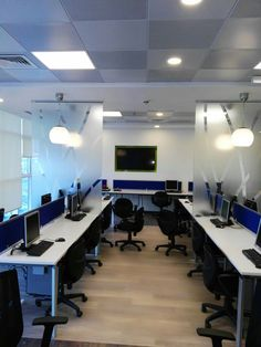 Small office space solutions from different projects done by Quantum Interior Design Works For booking and enquires contact us on info@quantumdubai.com or call 04 456 1308 Small Space Office, Online Deals, Project Management, Ceiling, Interior Design, Projects, Furniture, Home Decor, Nest Design