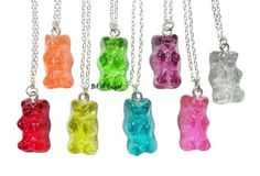 Wish | Candy Bear Necklace - Kawaii fake gummy miniature food jewelry